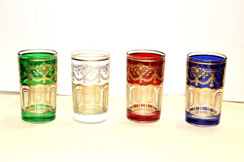 Moroccan Authentic Tea Glasses. Set of 4