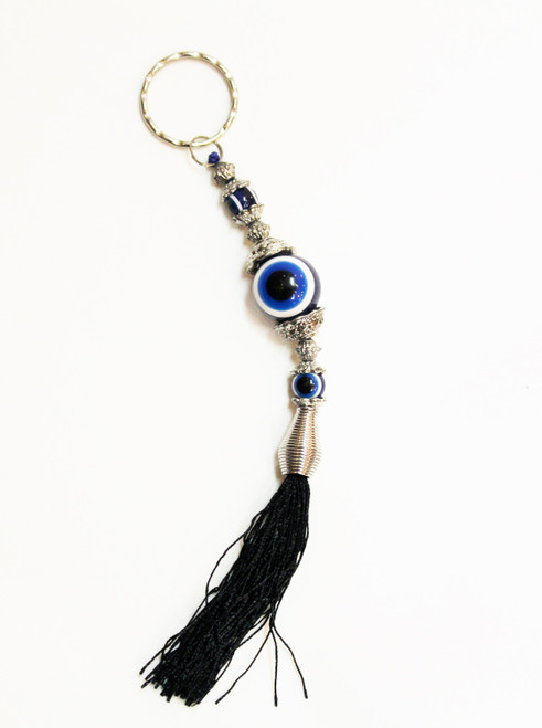 good luck, keychain, keyring,  decor, charm, evil, eye, protection, blessings, key, nazar, mati
