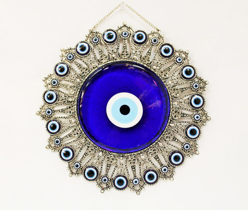 good luck, wall decor, charm, evil eye protection, blessings, wall hanging, nazar, mati, all seeing eye, large