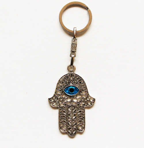 Hamsa Hand with Evil Eye Protection Kaychain Lg