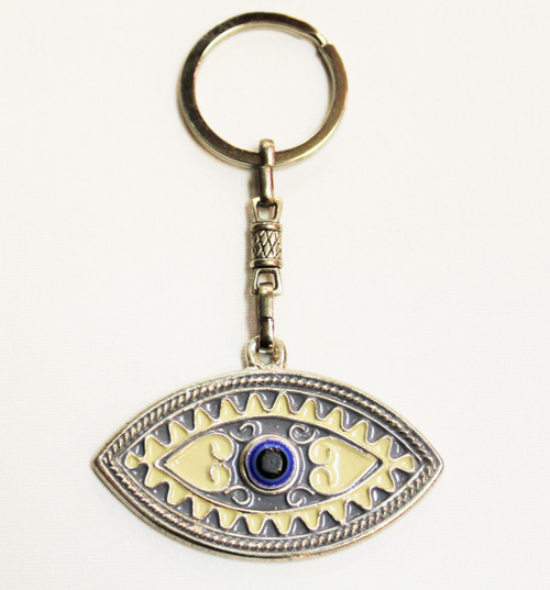 Evil Eye Protection Keychain Metal