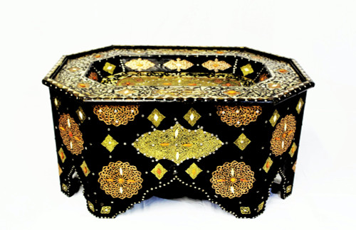 moroccan coffee table, moroccan center piece, center piece, moroccan furniture, moroccan table, high-end furniture, moroccan home decor, camel bone inlay, berber design, berber furniture, centerpiece