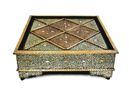 moroccan coffee table, coffe table, moroccan low table, low sofa table, square table, hammered metal, geometric design, moroccan furniture, handmade furniture, high end furniture, upscale furniture, moroccan home decor, moroccan home design,
