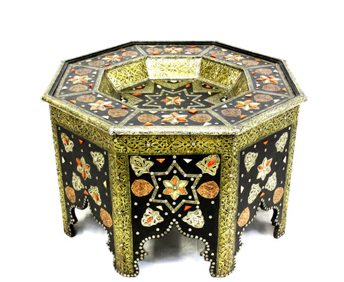 moroccan coffee table, moroccan center piece, center piece, moroccan furniture, moroccan table, high-end furniture, moroccan home decor, moroccan centerpiece, octagon table, eight-point star table, handmade furniture, exclusive furniture,