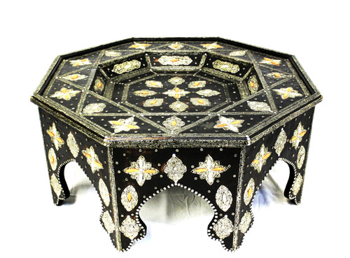 moroccan coffee table, moroccan center piece, center piece, moroccan furniture, moroccan table, high-end furniture, moroccan home decor, moroccan centerpiece, large moroccan table, eight-point star, exclusive furniture, handmade furniture, star table, black coffee table, moroccan design, moroccan style, moroccan home decor