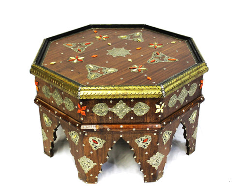 moroccan coffee table, moroccan center piece, center piece, moroccan furniture, moroccan table, high-end furniture, moroccan home decor, moroccan centerpiece, brown coffee table, eight-point star, octagon table, moorish design, moroccan home decor, moroccan home design, exclusive furniture, handmade furniture, brown wood sofa table