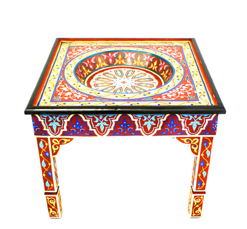 moroccan painted table, moroccan painted table red, moroccan coffee table, moroccan side table, moroccan end table, red painted table, moroccan furniture, handmade furniture, moroccan home decor, moroccan home design, high-end furniture, lux furniture, handmade furniture, moroccan table, best furniture,