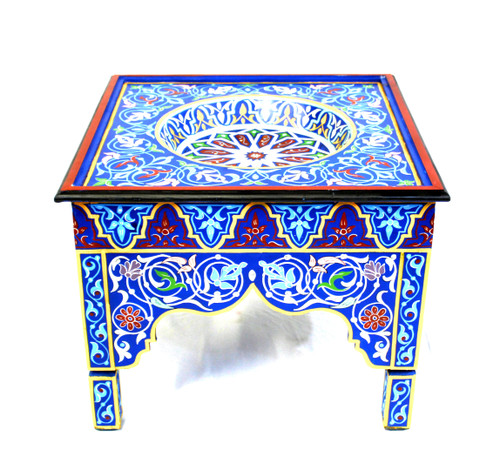 moroccan painted table, moroccan painted table blue, moroccan coffee table, moroccan side table, moroccan end table, blue painted table, moroccan furniture, handmade furniture, moroccan home decor, moroccan home design, high-end furniture, lux furniture, handmade furniture, moroccan table, best furniture,