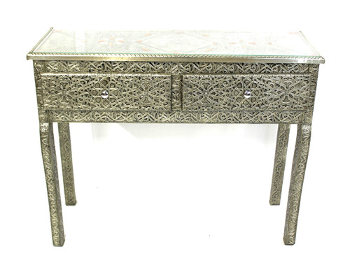 moroccan cabinet, moroccan console, moroccan home decor, metal furniture, console, console furniture, moroccan cabinet, moroccan sideboard, high-end furniture, luxe furniture, metal furniture, silver furniture, moroccan dresser, moroccan silver console, silver dresser, wardrobe, moroccan dresser, handmade furniture from morocco, table, tall table, long table, long tall table