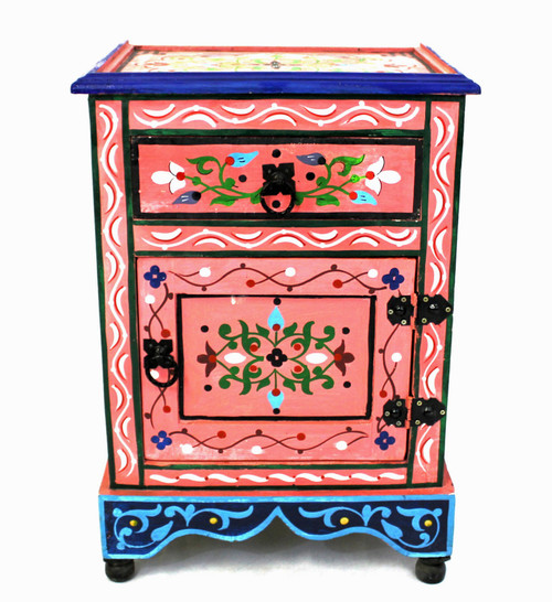 moroccan nightstand, moroccan cabinet, moroccan home decor, painted cabinet, small cabinet, nightstand, high-end furniture, luxe furniture, painted furniture, moroccan furniture, moroccan side table, moroccan nightstand pink, painted small cabinet, painted nighstand, small painted cabinet, pink cabinet, traditional moroccan furniture, pink nightstand, fancy nightstand, fancy small cabinet, pink fancy cabinet, moroccan nightstand pink, nightstand pink