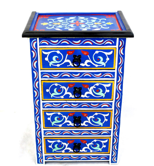moroccan nightstand, moroccan cabinet, moroccan home decor, painted cabinet, small cabinet, nightstand, high-end furniture, luxe furniture, painted furniture, moroccan furniture, moroccan side table, moroccan nightstand blue, painted small cabinet, painted nighstand, small painted cabinet, blue cabinet, traditional moroccan furniture, blue nightstand, fancy nightstand, fancy small cabinet, blue fancy cabinet, moroccan nightstand blue, nightstand blue. set of drawers, set of drawers blue