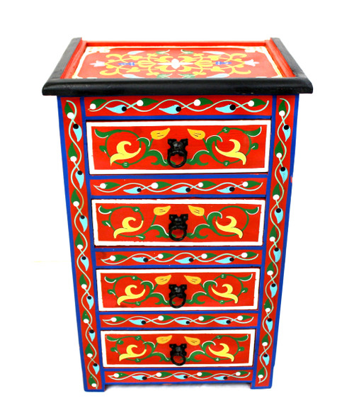 moroccan nightstand, moroccan cabinet, moroccan home decor, painted cabinet, small cabinet, nightstand, high-end furniture, luxe furniture, painted furniture, moroccan furniture, moroccan side table, moroccan nightstand red, painted small cabinet, painted nighstand, small painted cabinet, red cabinet, traditional moroccan furniture, red nightstand, fancy nightstand, fancy small cabinet, red fancy cabinet, moroccan nightstand red, set of drawers, set of drawers red