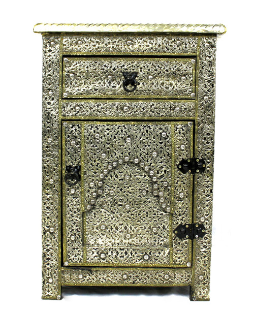 moroccan nightstand, moroccan cabinet, moroccan home decor, silver nightstand, small table, nightstand, high-end furniture, luxe furniture, silver furniture, moroccan furniture, moroccan side table, moroccan nightstand silver, silver small cabinet, silver side table, small silver cabinet, silver cabinet, traditional moroccan furniture, handmade nightstand, fancy nightstand, fancy small cabinet, silver fancy cabinet,