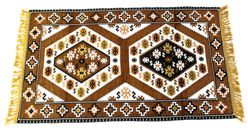 kilim rug brown, kilim rug, turkish rug brown, turkish rug, turkish carpet, turkish carper brown, arabesque design, geometric design, brown rug geometric design, brown rug, brown carpet, small rug, small rug brown, small carpet, turkish carpet small, brown small carpet, kilim rug small
