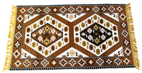 kilim rug brown, kilim rug, turkish rug brown, turkish rug, turkish carpet, turkish carper brown, arabesque design, geometric design, brown rug geometric design, brown rug, brown carpet, small rug, small rug brown, small carpet, turkish carpet small, brown small carpet, kilim rug small