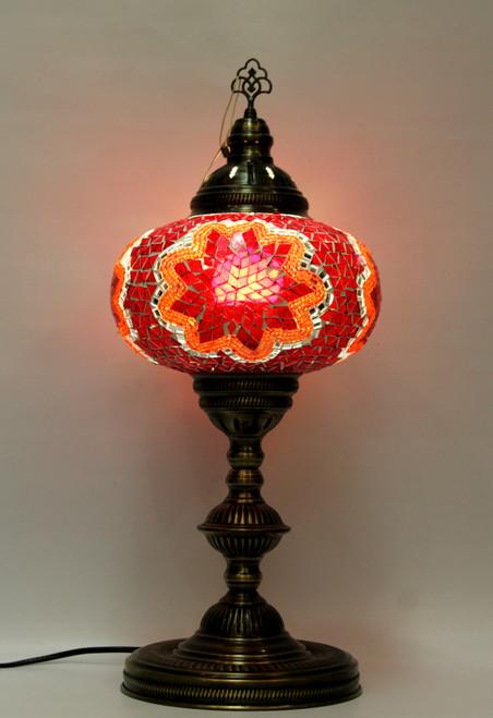 mosaic lamp, Turkish lamp, Tiffany lamp, table lamp, desk lamp, mood light, accent light, red lamp, red table lamp, desk lamp red, desk lamp Tiffany style, red light, desk lamp mosaic red