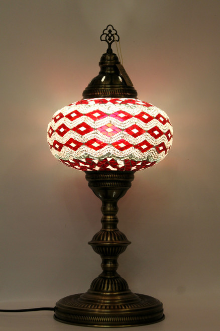 mosaic lamp, Turkish lamp, Tiffany lamp, table lamp, desk lamp, mood light, accent light, red lamp, red table lamp, desk lamp red, desk lamp Tiffany style, red light, desk lamp mosaic red, pink lamp, pink table lamp, pink decor, red and white mosaic