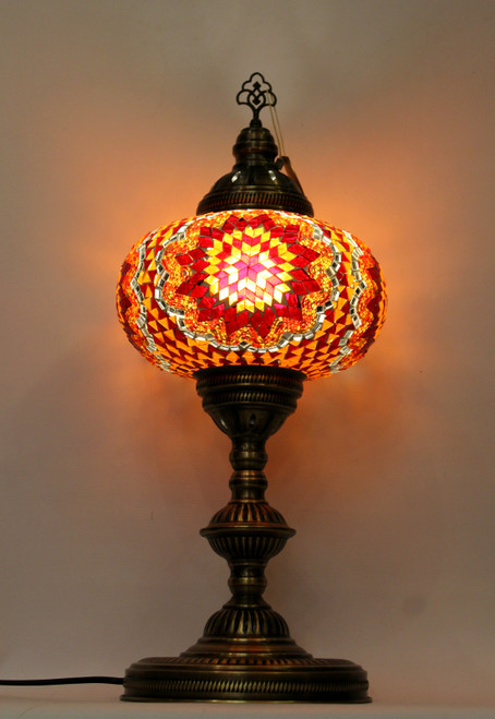 mosaic lamp, Turkish lamp, Tiffany lamp, table lamp, desk lamp, mood light, accent light, red lamp, red table lamp, desk lamp red, desk lamp Tiffany style, red light, desk lamp mosaic red, orange desk lamp, mood light red, table lamp orange,