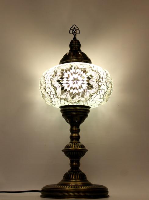 mosaic lamp, Turkish lamp, Tiffany lamp, table lamp, desk lamp, mood light, accent light, white lamp, nice table lamp, desk lamp white, desk lamp Tiffany style, mosaic inlay, desk lamp mosaic white