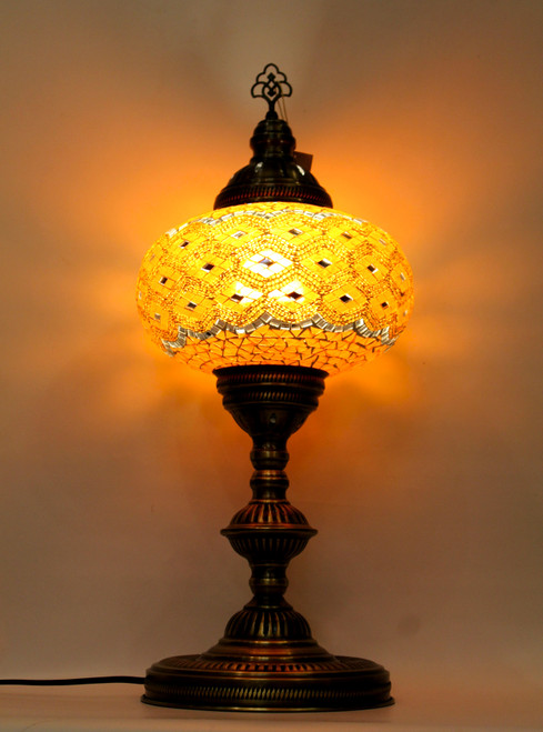 mosaic lamp, Turkish lamp, Tiffany lamp, table lamp, desk lamp, mood light, accent light, orange lamp, nice table lamp, desk lamp orange, desk lamp Tiffany style, mosaic inlay, desk lamp mosaic orange,
