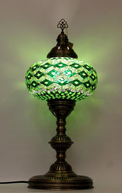 mosaic lamp, Turkish lamp, Tiffany lamp, table lamp, desk lamp, mood light, accent light, green lamp, green table lamp, desk lamp green, desk lamp Tiffany style, mosaic inlay, desk lamp mosaic green, green