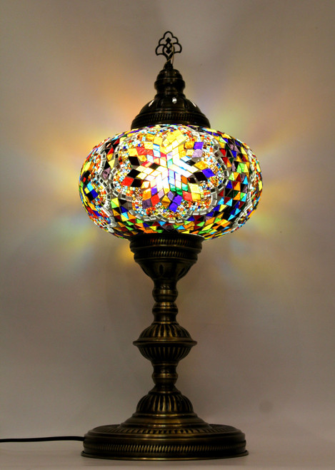 mosaic lamp, Turkish lamp, Tiffany lamp, table lamp, desk lamp, mood light, accent light, colorful lamp, colorful table lamp, desk lamp multicolored, desk lamp Tiffany style, mosaic inlay, desk lamp mosaic colorful, multi-color, colorful, multicolored,