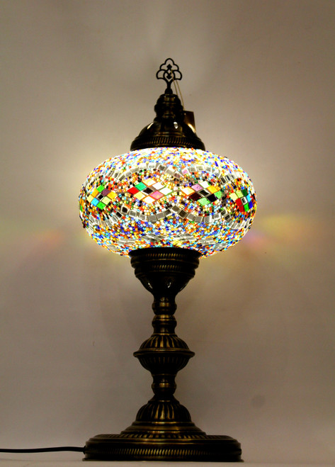 mosaic lamp, Turkish lamp, Tiffany lamp, table lamp, desk lamp, mood light, accent light, colorful lamp, colorful table lamp, desk lamp multicolored, desk lamp Tiffany style, mosaic inlay, desk lamp mosaic colorful, multi-color, colorful, multicolored,