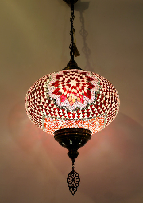 mosaic lamp, Turkish lamp, Tiffany lamp, ceiling lamp, mosaic ceiling lamp, mood light, accent light, red ceiling  lamp, Tiffany style ceiling lamp, mosaic light fixture, ceiling lamp Tiffany style, mosaic inlay, ceiling lamp mosaic red, red, pink lamp, red light fixture, mood light fixture, light fixture Tiffany style, Turkish light fixtures, Turkish lamps, mosaic lamps, pink ceiling lamp, pink light fixture, mosaic pink lamp