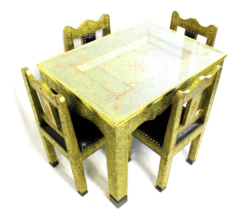 moroccan dining table, moroccan center piece, center piece, moroccan furniture, moroccan table, high-end furniture, moroccan home decor, centerpiece, moroccan centerpiece, handmade furniture, exclusive furniture, brass table, dining table, table with chairs, gold furniture, leather chairs, chairs, moroccan chairs, moroccan dining set, table and chairs, table with chairs set, moroccan furniture set,