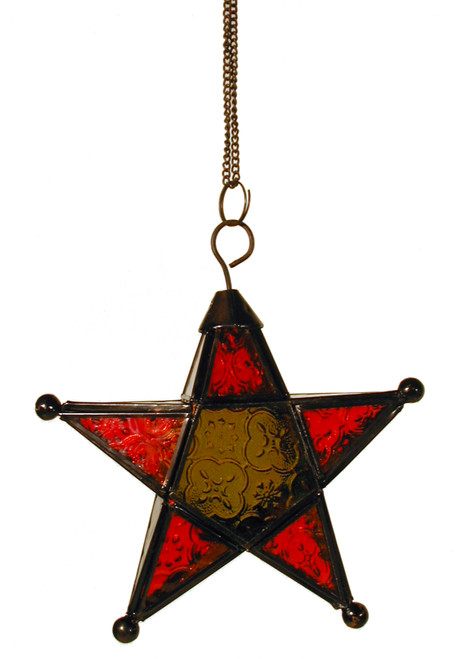 star candleholder, candleholder, candle holder, textured glass, 5-point star, multicolored star, multicolored candleholder, colorful star, colorful star candleholder