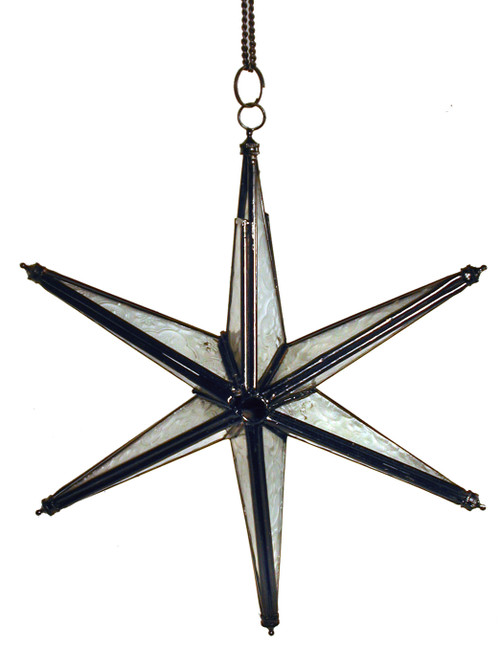 star candleholder, candleholder, candle holder, textured glass, 6-point star, blue star, white candleholder, white star of David, white star candleholder, star of David, porch decor, handing candleholder, home decor, star to hang, patio decoration, window decoration, star, white,