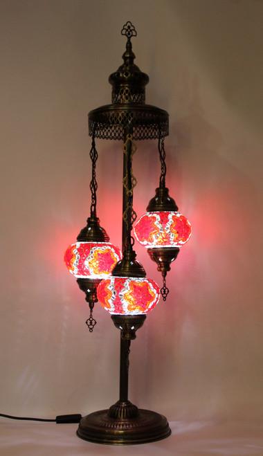 mosaic lamp, Turkish lamp, Tiffany lamp, table lamp, desk lamp, spiral lamp, mood light, accent light, red lamp, red table lamp, desk lamp red, desk lamp Tiffany style, red light, desk lamp mosaic red,