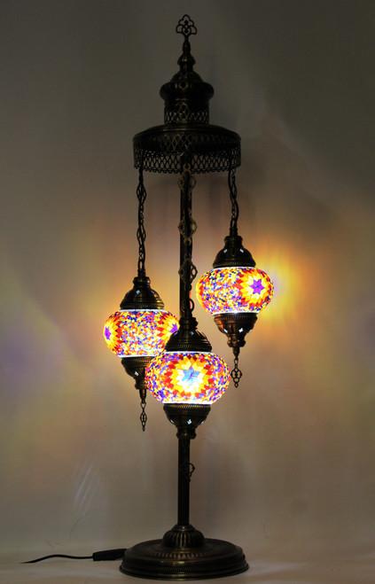 mosaic lamp, Turkish lamp, Tiffany lamp, table lamp, desk lamp, spiral lamp, mood light, accent light, multicolor lamp, colorful table lamp, desk lamp multicolor, desk lamp Tiffany style, colorful light, desk lamp mosaic colorful, spiral lamp multicolor, orange,