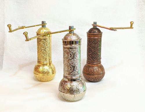 Turkish coffee grinder, coffee grinder, manual coffee grinder, grinder for Turkish coffee, manual mill, Turkish coffee mill, silver, gold, copper,