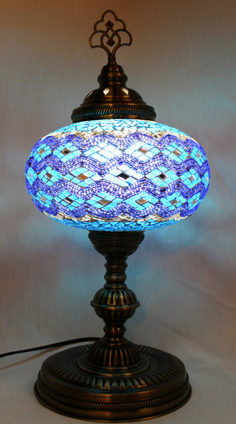 Mosaic Large Table Lamp Turquoise