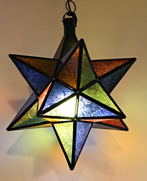 Large Moroccan Star Ceiling Lamp