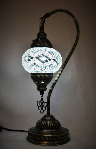 Mosaic Small Swan Table Lamp White