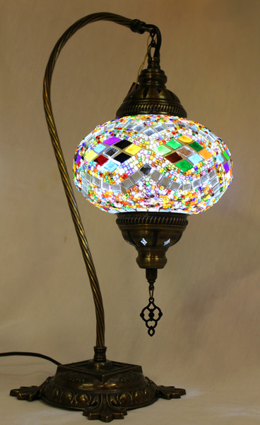 Mosaic Swan Table Lamp Multi-Color