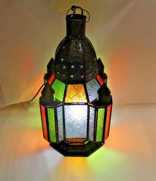 colorful lamp, mood light, light fixture, moroccan lamp, moroccan style, home decor, table lamp, colorful table lamp, side light,