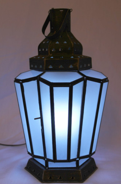 Blue Frosted Lamp Large