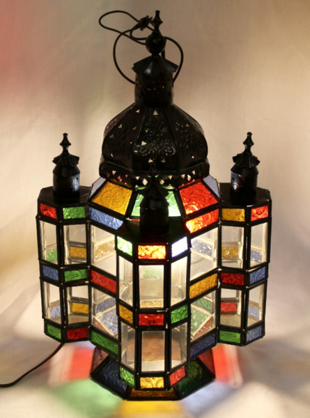 Colorful Lamp with Clear Glass