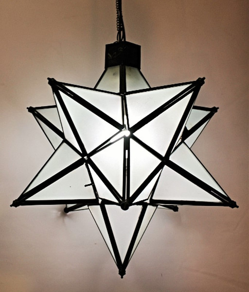 """Frosted Star Lamp 15"""""""