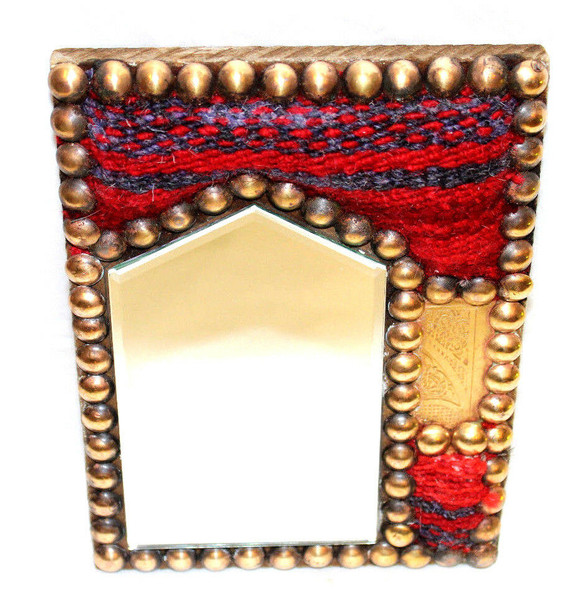 Egyptian Kilim Rug Mirror Asymmetrical Design