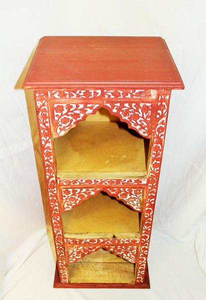 Red Carved Shelf
