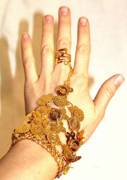 Bracelet and Ring. Belly Dancing Costume Jewelry.