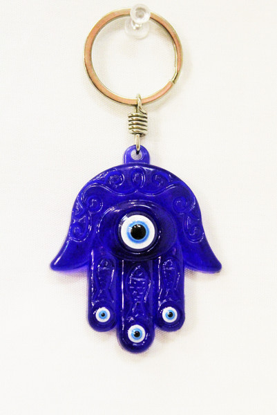 Hamsa Hand Blue with Evil Eye Protection Kaychain
