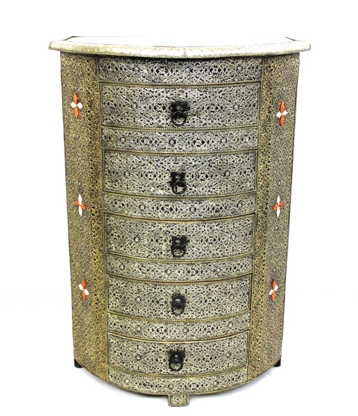 moroccan cabinet, moroccan armoire, moroccan home decor, metal furniture, large cabinet, tv cabinet, moroccan tv cabinet, moroccan sideboard, high-end furniture, luxe furniture, metal furniture, silver furniture, moroccan dresser, moroccan nightstand, moroccan cupboard, silver cupboard, silver dresser, wardrobe, large cabinet, fancy furniture, jewelry organizer, organizer, fancy dresser, fancy organizer, moroccan organizer furniture, fancy moroccan furniture, halfmoon cabinet, half moon cabinet, half moon furniture, furniture in style, moroccan style furniture