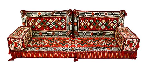 sofa, couch, turkish sofa, floor sofa, floor pillow, meditation cushion, meditation pillow, kilim  rug, red sofa, sofa pillows, sofa cushions, floor set