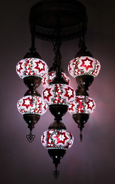 mosaic lamp, Turkish lamp, Tiffany lamp, ceiling lamp, mosaic ceiling lamp, mood light, accent light, red and white ceiling  lamp, red ceiling  lamp, Tiffany style ceiling lamp, mosaic light fixture, ceiling lamp Tiffany style, mosaic inlay, ceiling lamp mosaic red and white, red and white, red lamp, red light fixture, mood light fixture, light fixture Tiffany style, Turkish light fixtures, Turkish lamps, mosaic lamps, red lamp, pink lamp, pink ceiling lamp, star