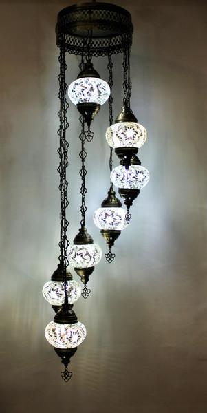 mosaic lamp, Turkish lamp, Tiffany lamp, ceiling lamp, mosaic ceiling lamp, mood light, accent light, white ceiling  lamp, Tiffany style ceiling lamp, mosaic light fixture, ceiling lamp Tiffany style, mosaic inlay, ceiling lamp mosaic white, white, white lamp, white light fixture, mood light fixture, light fixture Tiffany style, Turkish light fixtures, Turkish lamps, mosaic lamps